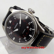 47mm parnis black dial date window 21 jewels miyota 8215 automatic mens watch575