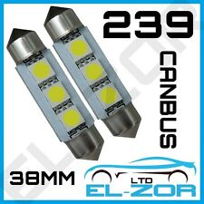 239 3 SMD LED XENON WHITE FESTOON CANBUS ERROR FREE NUMBER PLATE LIGHT BULBS 272