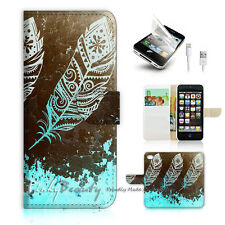 iPhone 5 5S Print Flip Wallet Case Cover! Dream Catcher Feather P0421