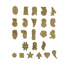 Wood Burning Hot Stamp Metal Symbol Number Set Craft Heat Walnut Greeting Text