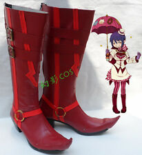 Blue Exorcist Mephisto Pheles Red Halloween Long Cosplay Shoes Boots H016