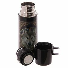 Celtic Wolf Stainless Steel Flask 350ml Wild One Lisa Parker