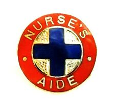 Nurse's Aide Lapel Collar Pin Medical Blue Cross Emblem Professional 811 Retired