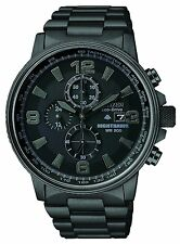 Citizen CA0295-58E Men's Eco Drive Black Stainless Steel NightHawk Pilot Watch