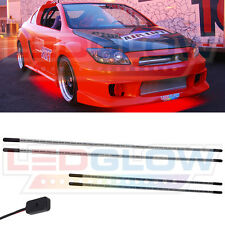 "LEDGlow 4pc Red LED Under Car Body Neon Light Kit 2x36"" & 2x48"" Tubes w 126 LEDs"