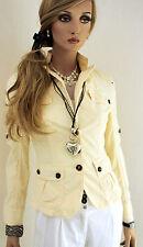MARCCAIN Damen Blazer Baumwollmischung N2 N3 36 38 S Vanille Jacke