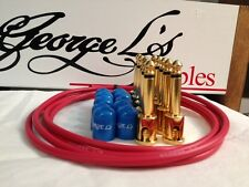 George L's 155 Guitar Pedal Cable Kit .155 Red / Blue / Gold - 10/10/5
