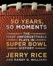 SIGNED JERRY RICE SIGNED IN PERSON IN NYC *50 YEARS, 50 MOMENTS* 1ST/1ST HC