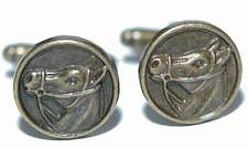 BRONZE METAL HORSE CUFF LINKS (007a)