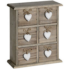 6 DRAWER HEART BOX - STORE SMALL ITEMS INSIDE.