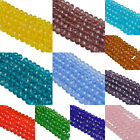 4/6/8 mm Charms Czech Colorful Rondelle Bicone Crystal Glass Spacer Loose Beads