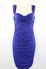 Nicole Miller Purple Ruched Dress Size 8