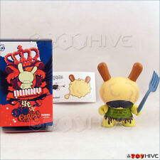 Kidrobot Dunny Ye Olde English vinyl T.A.S.H. figure by Triclops with box card