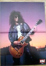 GUNS N' ROSES Slash Raw Centerfold magazine POSTER  17x11 inches
