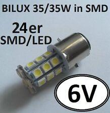 Bilux 6V LED SMD 35/35W Birne Glühlampe Scheinwerfer BA20d Oldtimer Traktor