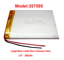Battery 357595 3200 Mah Li-Polymer For Tablet Pc digitale Device etc