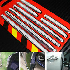 8pcs Doors Edge Transparent Soft Protector Guard Anti-scratch Rub Strips Bumper