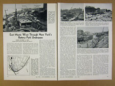 1950 Battery Park Underpass new york city Construction details photos article