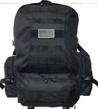 Military Molle Assault Tactical Backpack Black Large Rucksack Backpack RT 508