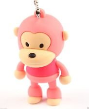 8GB Baby Monkey Silicon USB 2.0 Flash Memory Drive Disk Stick Shockproof PINK