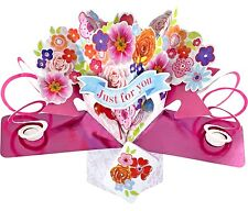3D Pop Up Card Everyday Occasion Bunch Of Flowers Greeting Card Birthday Cards