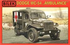 DODGE WC  54 -  WW II MILITARY AMBULANCE (RED CROSS) 1/35 BILEK RARE!