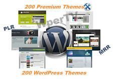 200 Premium Wordpress Site Themes With Resell Rights..CD