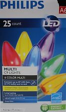 25 Philips LED Multi C9 Lights Green Wire Lighted length 24 ft Indoor/Outdoor