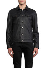 MARC BY MARC JACOBS Men's XL LAMBSKIN LEATHER JACKET in ORCHA BLACK NWT