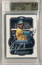 RICKEY HENDERSON 2014 Topps Museum Collection FRAMED SILVER AUTO 10/10 BGS 9.5