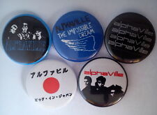 """5 x Alphaville 1"""" Pin Button Badges ( 80s forever young afternoons in utopia )"""