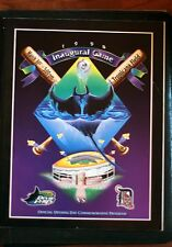 1998 Inaugural Game Tampa Rays Program ex