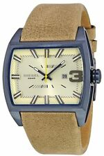 Brand NEW Diesel DZ1703 Mens Brown Tan Leather Strap Quartz Watch Starship Space