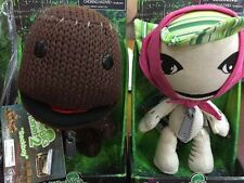 "Little Big Planet 7"" Brown Sackboy & Sackgirl Plush Knitted Doll One Set Gift"