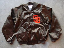 Vintage San Diego Padres Satin Jacket Size L Made in USA Hartwell Brown 80s 90s