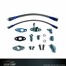 Turbo Oil Feed & Oil Drain Line Kit TOYOTA CT9 CT12 CT20 CT26 Turbo T3/T4 M8/M12
