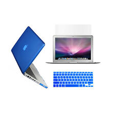 "3 in 1 Crystal  ROYAL BLUE Case for Macbook PRO 13"" + Key Cover + LCD Screen"