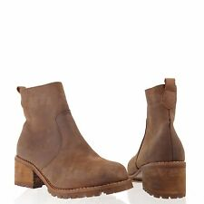 Jeffrey Campbell Cornell Women's Shoes Brown Leather Ankle Boots Size 8.5 M NEW!
