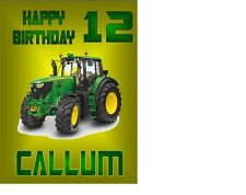 """Tractor Birthday Personalised A4 Icing Sheet 10""""x8"""" Cake Topper"""