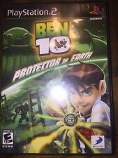 Ben 10: Protector of Earth (PlayStation 2, 2007) COMPLETE W/Manual, Box, Disk