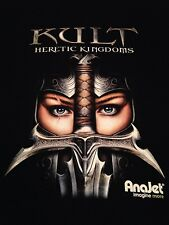 "Kult Heretic Kingdoms t shirt ""Anajet"" Fantasy Gamers sz M black ""NWOT"""
