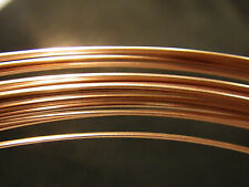 14k ROSE Gold Filled HALF ROUND HH Wire 21 Gauge 12 INCHES  14/20 1/2 Red Hard G