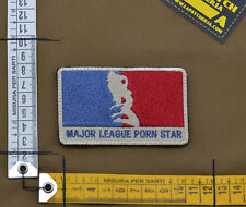 "Ricamata / Embroidered Patch ""Major League Pornstar"" with VELCRO® brand hook"