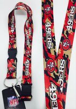 NFL San Francisco 49ers Clip On Lanyard Key chain (Camo color)