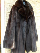 GORGEOUS! NOT VINTAGE Chocolate Brown Canadian Mink Fur Coat Jacket Bell Sleeves