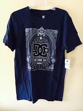DC Shoe Co. Mens Black with Silver Grey Deco Short Sleeve T, Size M, NWT!