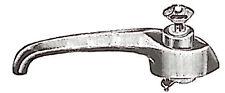 FIAT 616 MANIGLIA DX/SX CON CHIAVE RICAMBI D'EPOCA COD.38/20001