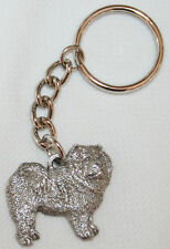 CHOW CHOW Dog Fine Pewter Keychain Key Chain Ring NEW
