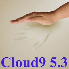 """5.3 CLOUD9 FULL / DOUBLE 4"""" MEMORY FOAM BED TOPPER + COVER"""