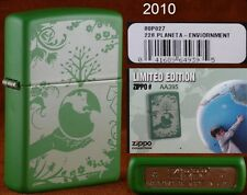 New/Rare ZiPPO Lighter w/ Box; SAVE THE PLANET Green Mate limited edition